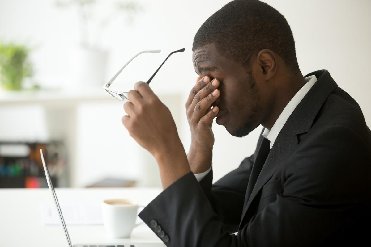 man suffering from keratoconus