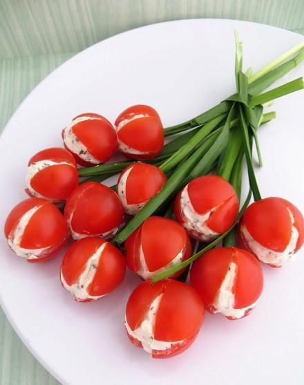 помидоры с сыром и чесноком рецепт фото
