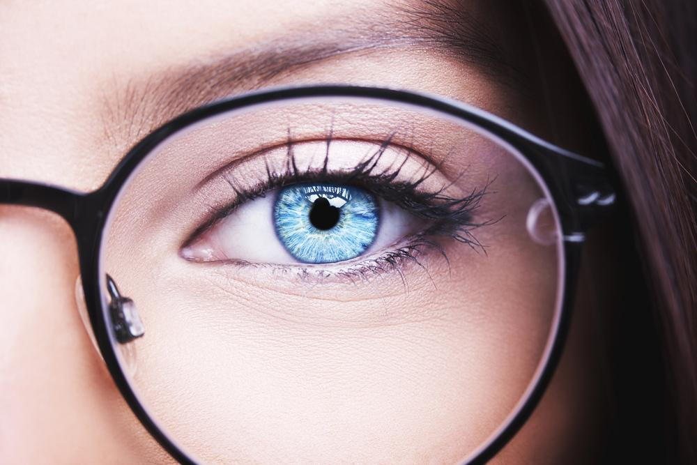 Woman visiting our local optometrist for eyeglasses