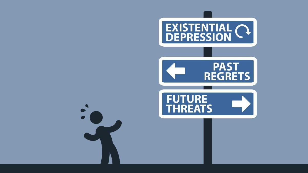 Existential Depression, Past Regrets and Future Threats