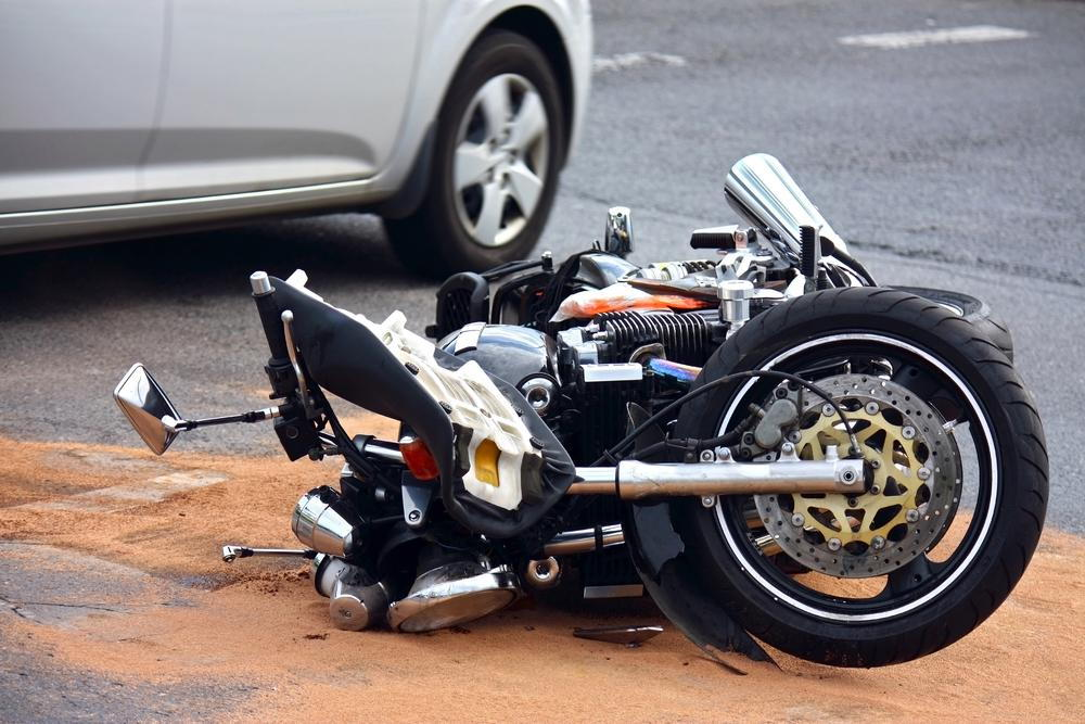 a motorcycle in an accident in San Diego