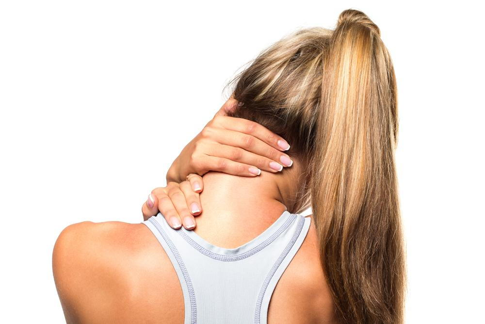 woman has neck pain in Oviedo, FL