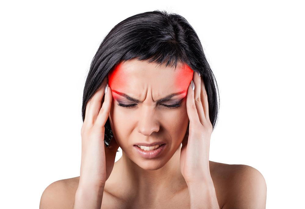 woman suffering from a tension headache