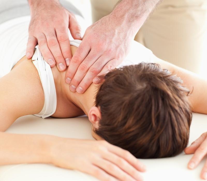 woman getting chiropractic adjustment