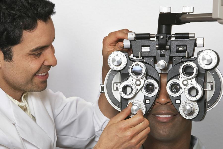Man Getting His Eyes examined