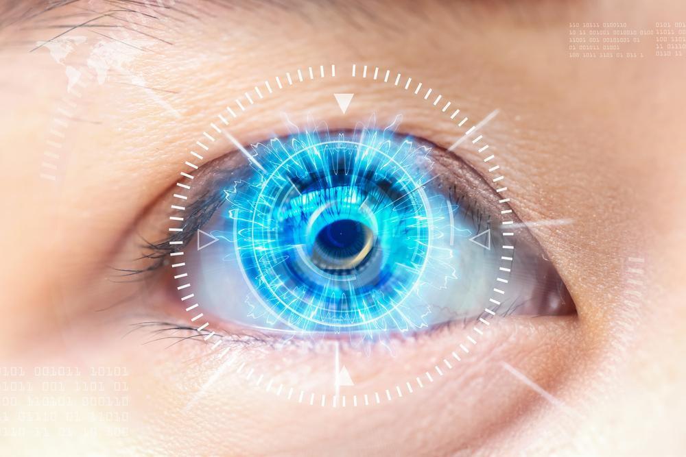 laser over an eyeball