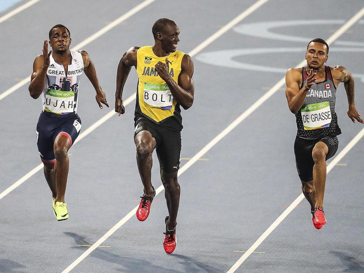 Usain bolt's running gait