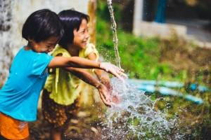 Children being friends