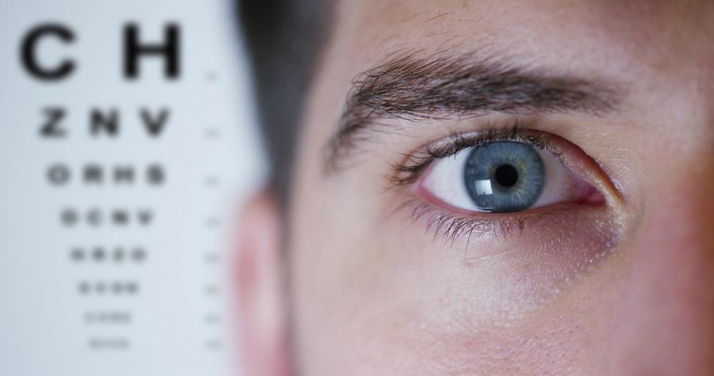 Man getting a vision exam in Fair Oaks.