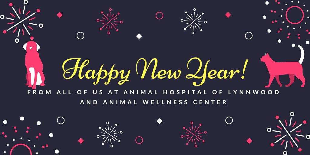 Animal Hospital of Lynnwood New Year's Banner New Years Pet Resolutions