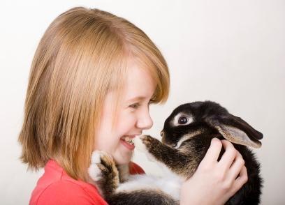 girl holding bunny rabbit in Phoenix