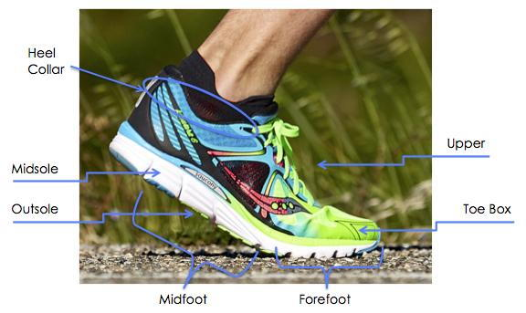 Image result for running shoe anatomy