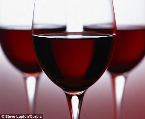 Description: Drink up: Women who drink three glasses of wine a week could be halving their risk of arthritis