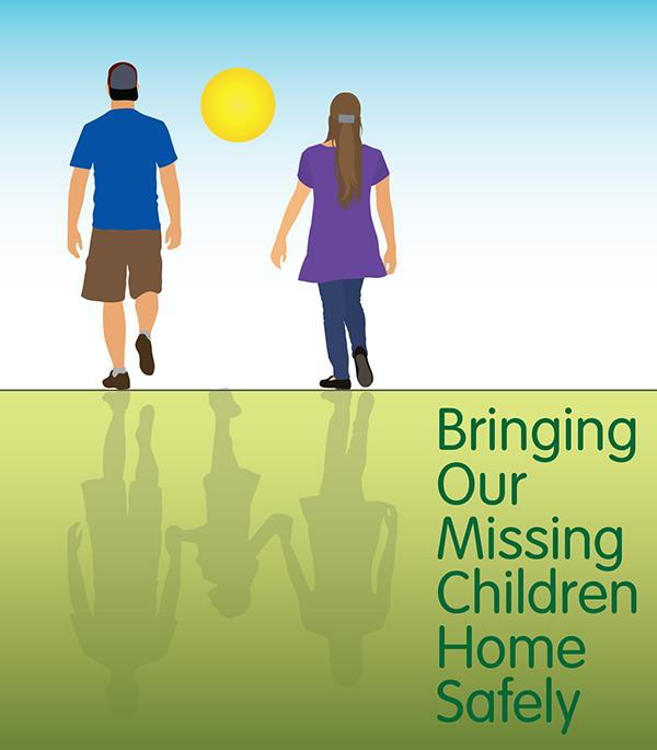 2018 Missing Children's Day Logo. Bringing Our Missing Children Home Safely